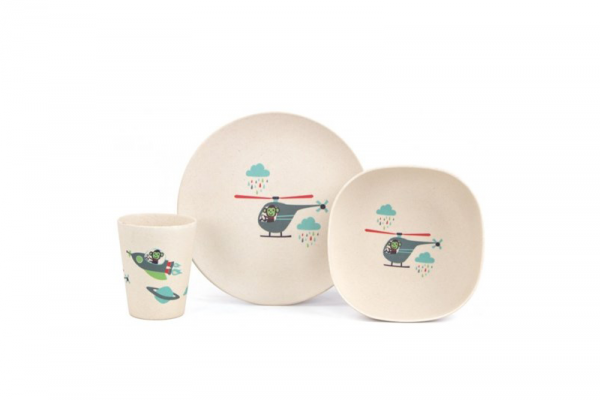 Penny Scallan Bamboo Meal Time Set Space Monkey – $23.95