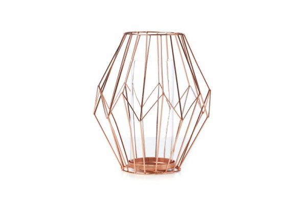 Diamond Wire Lantern Copper – $39.95