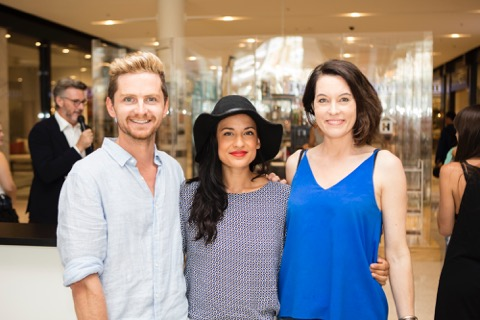 Barry Du Bois, stylist Crystal Bailey and Terri Winter of Top3 by Design.