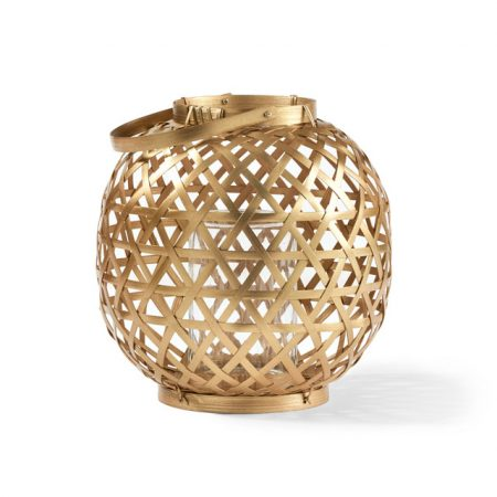 bamboo-lantern-metallic @Bed, Bath N Table