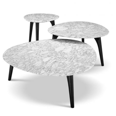 Crescent Tables, In Congo with marble top from $1,100